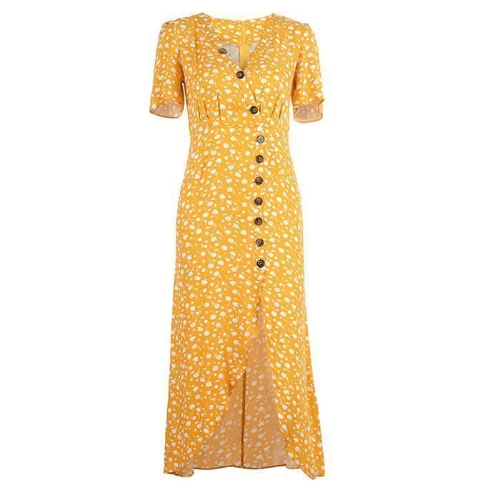 Long Chiffon Causal Dress of Clothing Manufacturing Company China