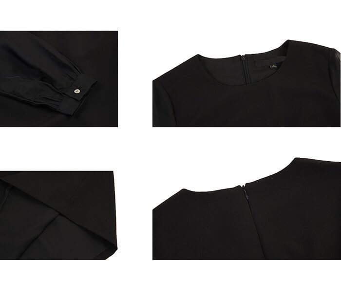 Black Classy Formal Dress of clothing manufacturing company