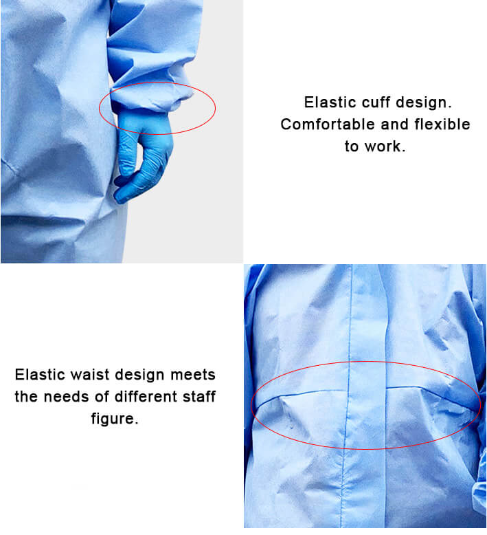 Protective Clothing Elastic Wasit and Cuff Design