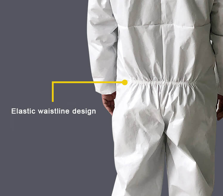 Wasitline Of Isolation Gown